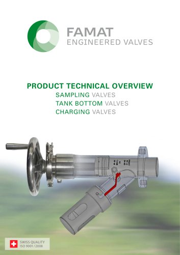 """1"""" and 2"""" Sampling Valve Technical Overview (Version 09/2013)"""