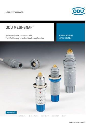 ODU MEDI-SNAP - Circular connectors made of plastic or metal