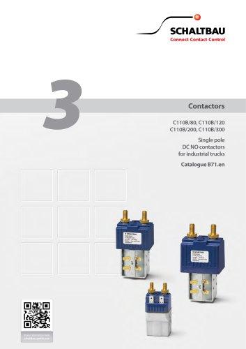 Contactors for industrial trucks C110B