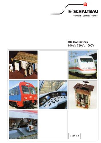 DC contactors 600V / 750V / 1000V