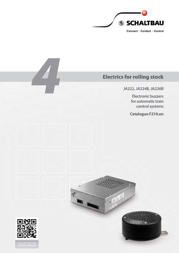 Electronic buzzers JA222, JA224B, JA226B