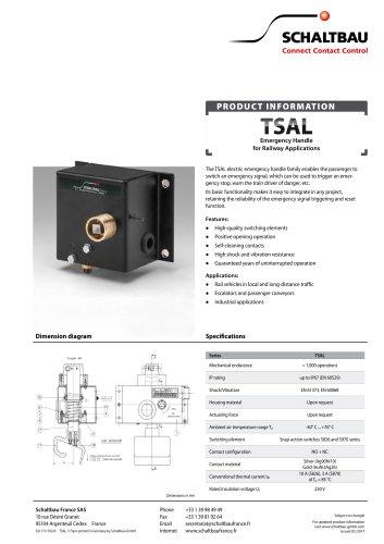 Emergency brake handle, TSAL series