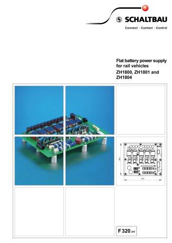 Flat battery power supply ZH1800, ZH1801, ZH1804