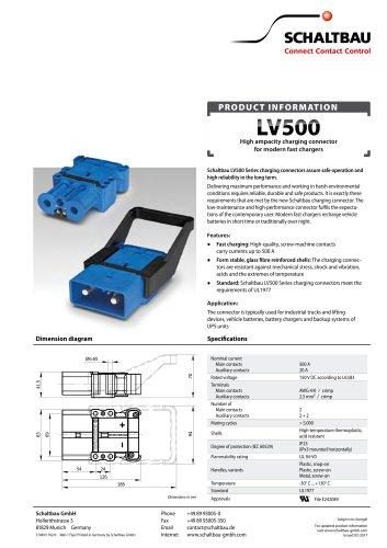 Flyer Charging Connectors, LV500 series