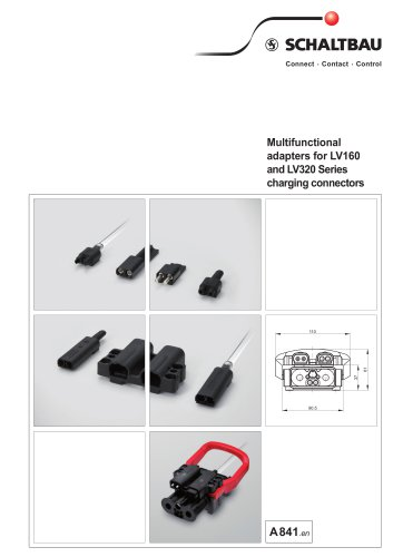 Multifunctional adapters for LV160 and LV320 Series charging connectors