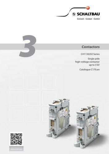 Single pole high-voltage contactor