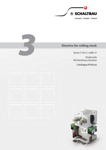 Single pole latch NO contactor C163