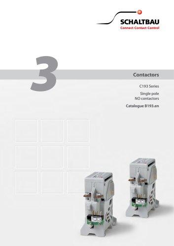 Single pole NO contactor C193
