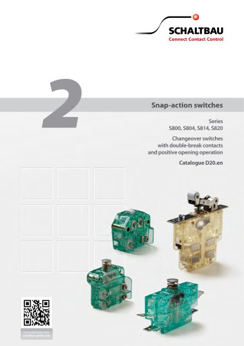 Snap-action switches S800, S804, S814, S820