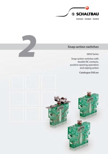 Snap-action switches S850