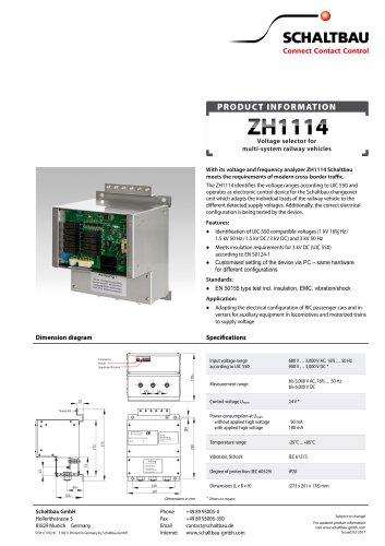 voltage selector formulti-system railway vehicles ZH1114