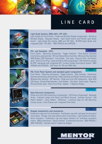MENTOR Line Card englisch