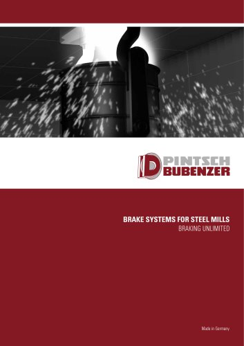 Brake systems for steel mills