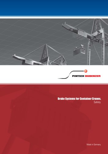 """Brochure """"Brake systems for container cranes"""""""