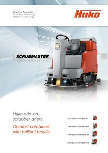 Scrubmaster ride-on scrubber-driers