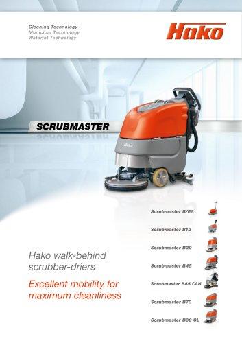 Scrubmaster walk-behind scrubber-driers