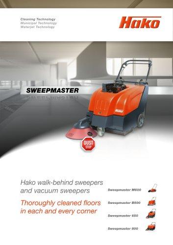 Sweepmaster walk-behind sweepers and vacuum sweepers