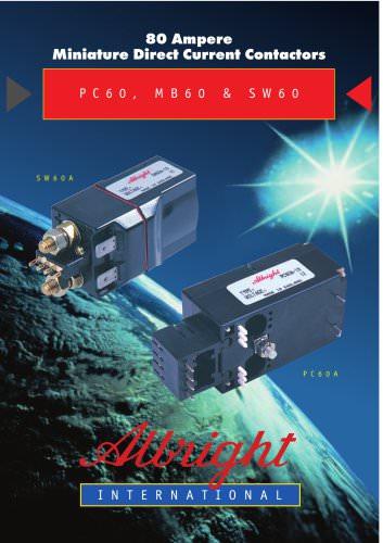 PC60, MB60 & SW60 Series of D.C. Contactors