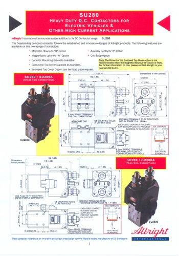 SU280 Series of D.C. Contactors