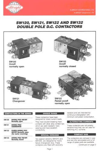 SW120, SW121, SW122 & SW132 Series of Double Pole D.C. Contactors