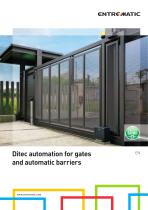 Ditec automation for gates and automatic barriers