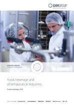 GHM Food, beverage and pharmaceutical industries product catalog 2019