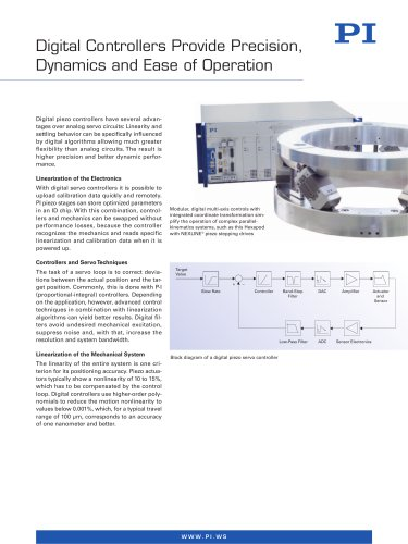 Digital Controllers Provide Precision, Dynamics and Ease of Operation