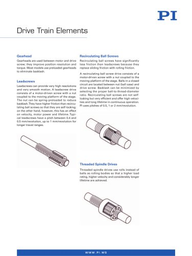 Drivetrain Elements