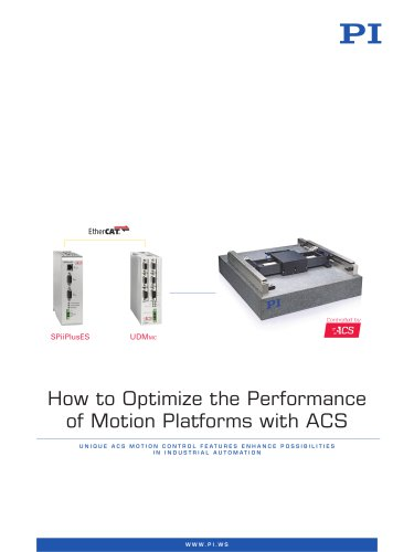 How to Optimize the Performance of Motion Platforms with ACS