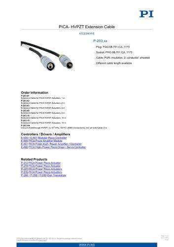 P-203.xx PICA-HVPZT Extension Cable Accessorie