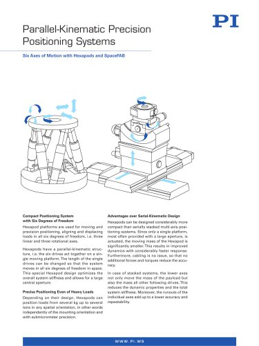 Parallel-Kinematic Precision Positioning Systems
