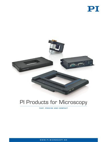 PI Products for Microscopy