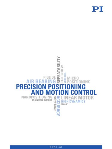 Precision Positioning and Motion Control