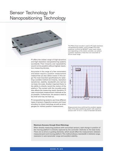 Sensor Technology for Nanopositioning Technology