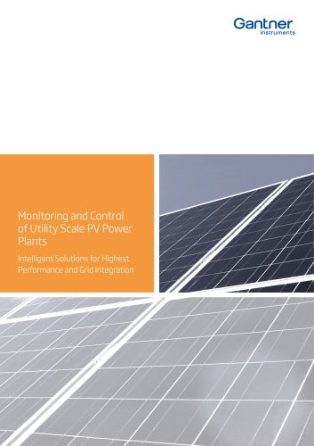Monitoring and Control of Utility Scale PV Power Plants