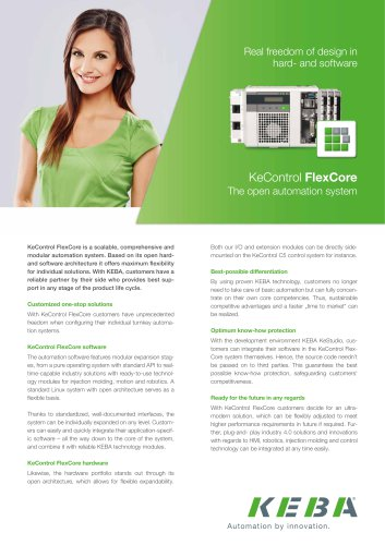 KeControl FlexCore  The open automation system