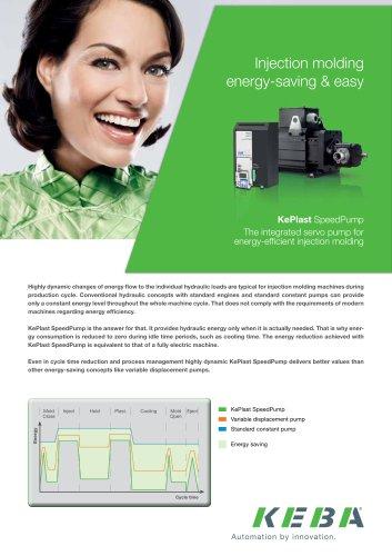 KePlast SpeedPump - The integrated servo pump for energy-efficient injection molding
