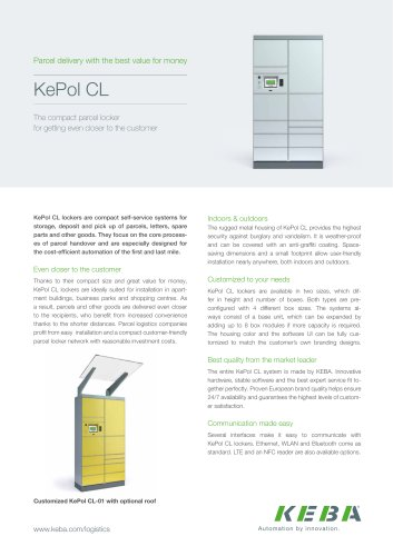 KePol CL - The compact parcel locker