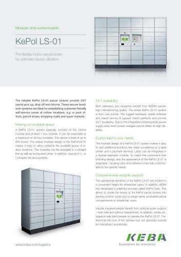 KePol LS-01 – the flexible indoor parcel locker