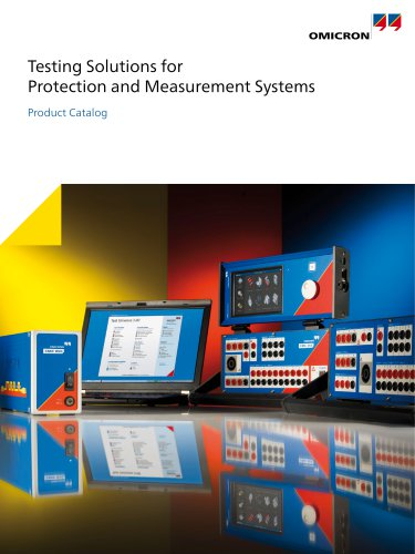 CM-Line Catalog - Testing Solutions for Protection and Measurement Systems