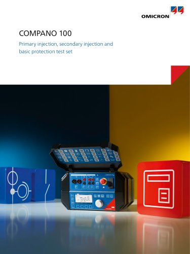 COMPANO 100 - Primary injection, secondary injection and basic protection test set