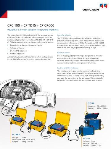 CPC 100 + CP TD15 + CP CR600 - Datasheet