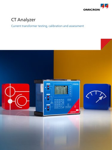CT Analyzer - Current transformer testing, calibration and assessment