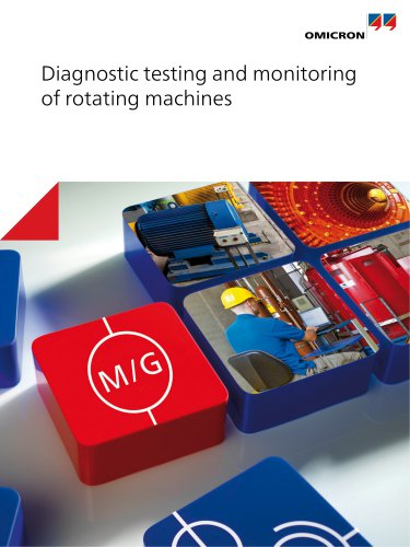 Diagnostic testing and monitoring of rotating machines
