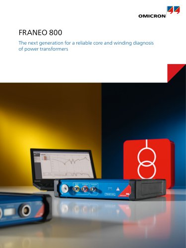 FRANEO 800 - The next generation for a reliable core and winding diagnosis of power transformers