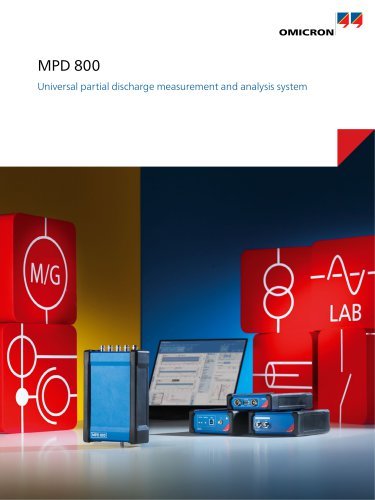 MPD 800 - Universal partial discharge measurement and analysis system