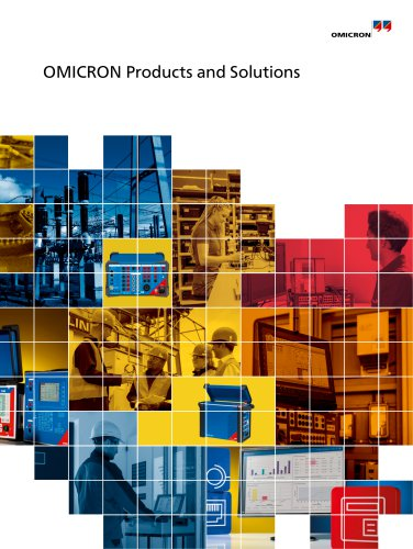 OMICRON Products and Solutions