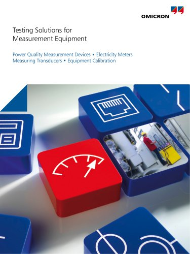 Testing Solutions for Measurement Equipment