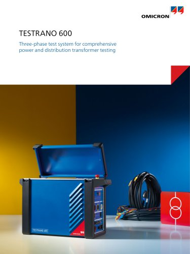 TESTRANO 600-Three-phase test system for comprehensive power transformer testing