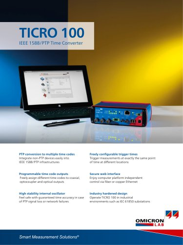 TICRO 100 - IEEE 1588/PTP Time Converter